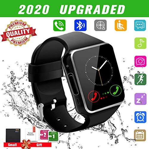 Bluetooth Smartwatch con Camera,Smart Watch Phone Touchscreen,Smart Orologio,Impermeabile Orologio Intelligente con SIM Card Fessura per Android Samsung Huawei ios phone X 8 7 6 6s 5 Uomo Men Donna