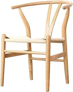 ZHANGZZ-Sillas de comedor Artículos for el hogar sillas de madera, madera nórdica informal Silla Silla Y la cuerda trenzada Wishbone Silla neto de la leche roja Tea Shop Cafe restaurante Silla de made