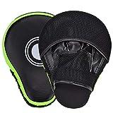 Queta Paos de Boxeo para Kick Boxing Muay Thai MMA-Almohadillas Entrenamiento-Manoplas de Boxeo 2pcs (Negro)