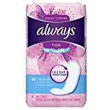 Best Panty Liners - Always Thin Dailies Liners, Unscented, Wrapped, 60 Count Review