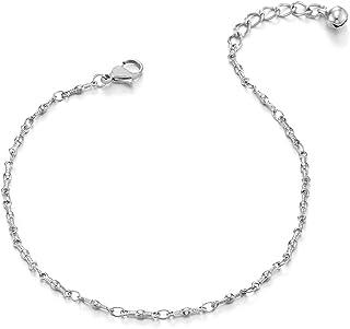 zhouzhouji Acier Inoxydable Bracelet De Cheville pour Femme Fille Cha/îne Cheville