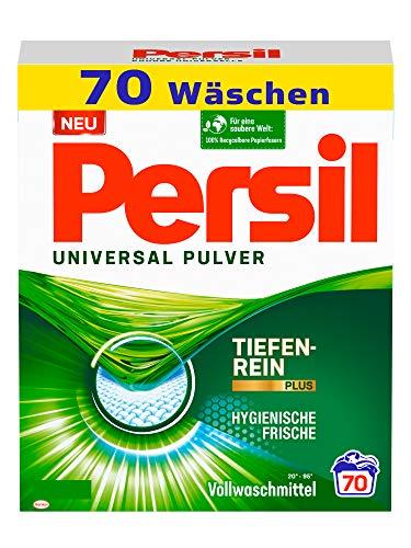 Persil Universal Pulver Waschmittel (70 Waschladungen), Vollwaschmittel mit Tiefenrein-Plus Technologie bekämpft hartnäckigste Flecken für strahlende Reinheit