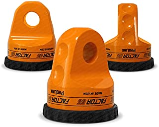 Factor55 ProLink Loaded Shackle Mount With Titanium Pin & Rubber Guard (16,000 Lbs) - Orange
