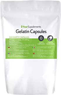 Lege gelatinecapsules   Maat 0   500 stuks