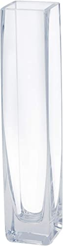 """2021 Royal Imports Flower/Bud Glass Vase Decorative 2021 Centerpiece, outlet sale Home or Wedding 9""""x2"""", Clear outlet sale"""