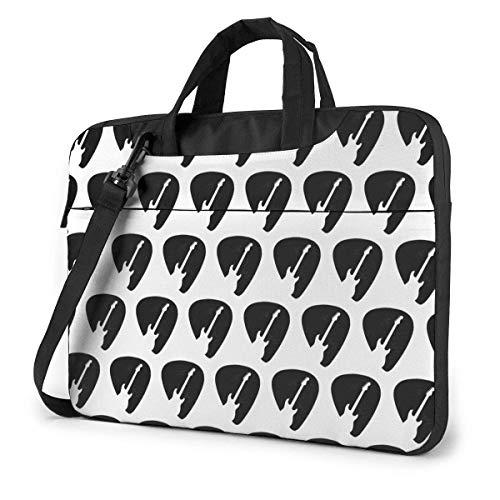 Plectrum met gitaar-silhouet schoudertas voor laptop, met draaggreep, handtas