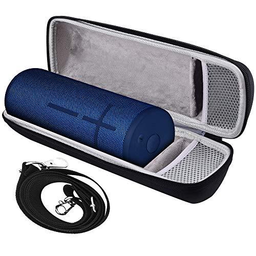 Tasche für Ultimate Ears UE Megaboom 3 Bluetooth Lautsprecher (Wasserdichter 360°-Sound) mit Platz für Stecker und Kabel (einschließlich Schultergurt) - Carbon