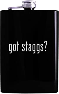 got staggs? - 8oz Hip Alcohol Drinking Flask, Black