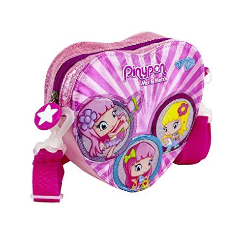 Pinypon - Bolso Bandolera con Forma de corazón para niñas a Partir de 3 años, Color Rosa (Famosa 700016000)