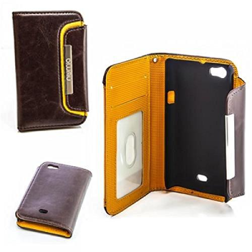 numia Sony Xperia Miro Hülle, Handyhülle Handy Schutzhülle [Book-Style Handytasche mit Standfunktion und Kartenfach] Pu Leder Tasche für Sony Xperia Miro ST23i Case Cover [Braun-Orange]