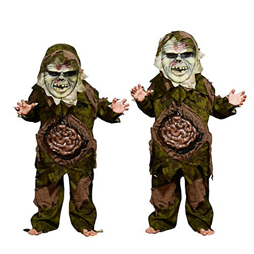 Halloween Kinderkleding Jongen Moeras Monster Kostuum Horror Zombie Grote Intestine Kostuum Enge buik Zombie pak