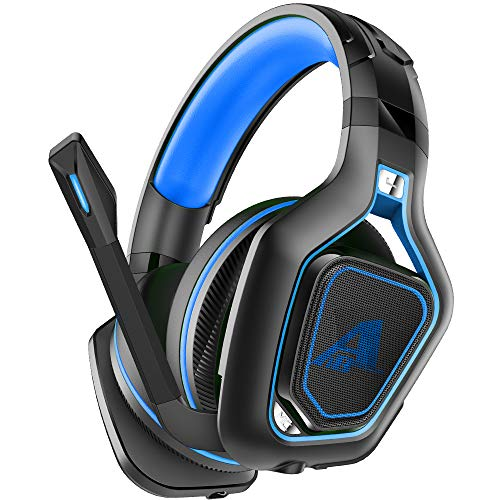 PC Gaming Headset 3.5mm Audio Stereo Sound PS4 Headphone for Mac Latop Games,50mm Driver Noise-Isolation Microphone Gamer Headset (Blue)