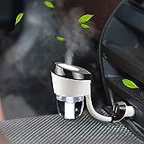 QIHANGCHEPIN Difusor del aroma del purificador del aire del humectador 12V del coche con el sistema de cierre automático 2 puertos del USB Cargador del coche 12V/24V (negro) (Color : Negro)