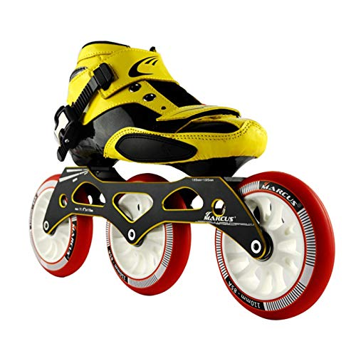 mfwwewe Roller Skates Speed Skating Shoes Adult Men And Women Inline Racing Shoes Beginner Childrens Skates Professional Pulley Shoes Color RED