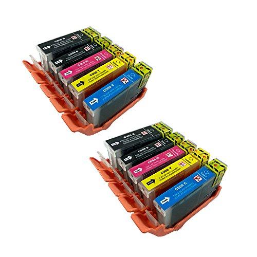 PerfectPrint - Compatible Canon PGI-5 CLI-8 cartuchos de tinta para Canon Pixma iP4200 iP4300 iP4500 iP5200 IP5100 MP500 MP530 iP5200R iP5300 MP600 MP610 MP800 MP600R MP800R MP810 MP830 MP950 MP960 MP970 MX850 9000, 10 piezas de Multipack: 2x PGI-5BK