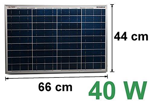 Solarmodul 12V 40W Solarpanel Solarzelle Polykristallin Photovoltaik Solar