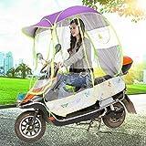 ZYQDRZ Parabrezza per Moto Antipioggia E Protezione Solare Parabrezza per Pioggia Ombrello Trasparente, Tenda Antipioggia Completamente Chiusa, Tettoia per Ombrello per Moto Elettrica