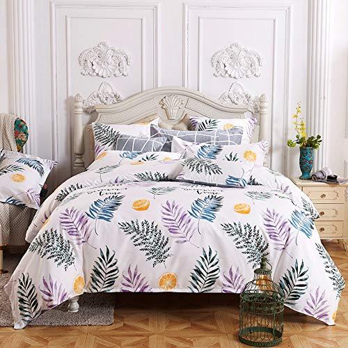 BEDSETAAA Bettwäsche Set Creative Design Gedruckt Grau Doppel Bettbezüge Kissenbezug Bettwäsche, 180X220Cm
