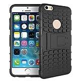 iphone6 / 6 plus 耐衝撃 コンポジット ケース / カバー アイフォン スマホ【Willcast】 2.iphone6plus ブラック おまけホームボタン