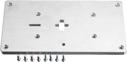 LMIAOM Placa de inserción de la mesa de la fresadora de aluminio con tornillos de fijación para la sierra caladora Bancos de carpintería Accesorios de hardware Herramientas de bricolaje