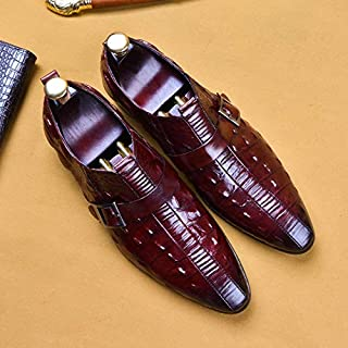 Leather cover toe-toe color-printing men's formal business shoes, heightening, shock absorption, breathable, wear-resistant, non-slip