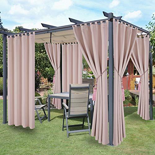 LORDTEX Waterproof Indoor/Outdoor Curtains for Patio