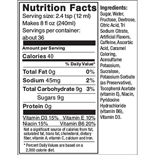 SodaStream Energy Syrup, 14.8 Fluid Ounce