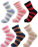 CityComfort Calcetines Calentitos Mujer Y Niños | Pack De Calcetines Mujer | Calcetines Con Rayas De Colores | Calcetín De Invierno | Calcetines Para Estar Por Casa Mujer
