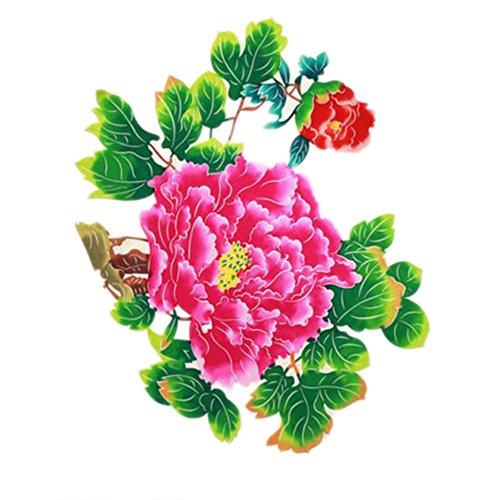 Black Temptation 4PCS Chinese Traditional Art Paper Cut Décor Collection colorée Souvenir-A10