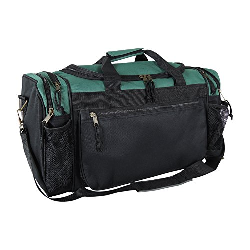 Dalix 20 Inch Sports Duffle Bag with Mesh and Valuables Pockets, Dark...
