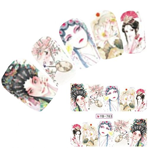 Just Fox – Tattoo Nail Art Autocollants Anime Manga Japon Geisha Water decall