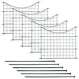 Edaygo Teichzaun Gartenzaun Gitterzaun, Unterbogen, Sparset, 11-teilig, 5 Zaunelemente, 6 Befestigungsstäbe, Metall Rostfrei, Grün, Länge 3,75 m