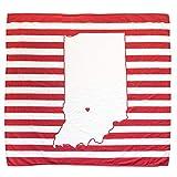 TWIG & BALE Indiana Baby Blanket Organic Cotton Muslin Swaddle Blanket - 47' x 43' - Fans of Indiana Hoosiers Baby Gift for Boys Girls Newborn Receiving Blanket