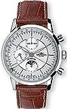 Mondia swiss Classic Reloj para Hombre Analógico de Automático Suizo con Brazalete de Piel de Vaca MS 631-5CA
