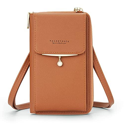 Kleine Damen-Handtasche aus Leder, Braun (braun), Large