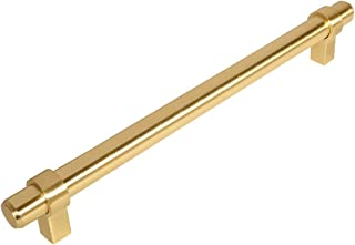 10 Pack - Cosmas 161-192BB Brushed Brass Cabinet Bar Handle Pull - 7-1/2