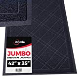 "SlipToGrip Universal Door Mat – XL Size 42"" x 35"" – Anti Slip, Durable & Washable – Duraloop Mesh Entrance Outdoor & Indoor Welcome Mat – Dirt and Dust Absorber (Black)"