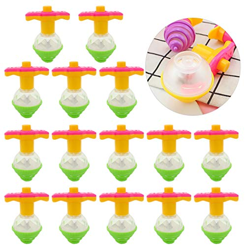 Lowest Prices! Bageek 15PCS Kid Spinning Top Magic Flashing LED Light up Spinner Spin Top Gyro Peg-T...
