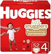 Huggies Little Snugglers Baby Diapers, Size 4, 52 Ct