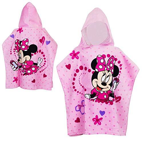 Disney Minnie Maus Kapuzen-Poncho Mouse | 60 x 120 cm Badeponcho | Badetuch