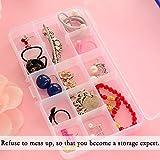 Plastik Aufbewahrungsbox, innislink Sortierbox Sortimentsboxen Einstellbar Fächer für die Schmuck, Perlen und andere Mini waren Sortierkästen Schmuckschatulle Werkzeugcontainer – 15 Raster x 4 Farben - 3