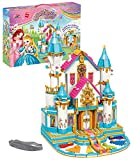 Girls Building Blocks Toy, Flower Castle Ball Building Kit, Palace Model Bricks Toy, Princess Castle Toy, Best Learning & Educational Roleplay Gift, STEM Toy for Boys and Girls Ages 6-12 (1117 Pieces)