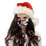10 Stück Weihnachten Mundschutz Einweg, Christmas Druck Mund und Nasenschutz, Dreischichtig Staubdicht Atmungsaktiv Bandana Halstuch Multifunktiontuch Unisex Erwachsene