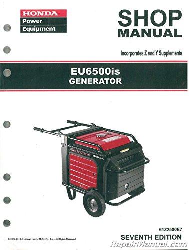 61Z2500E8 Honda EU6500 EU6500is Generator Service Repair Shop Manual