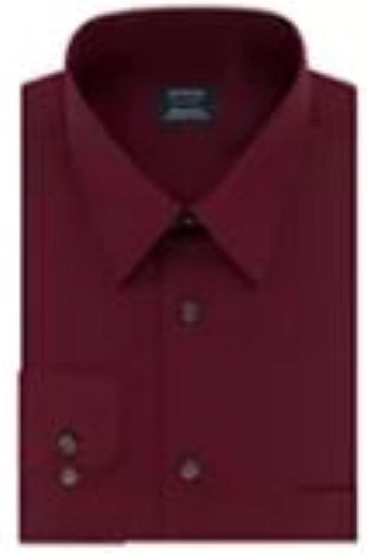 Arrow Men Dress Shirt Aroflex Regular Fit Stretch Fabric Mulberry Size 16-16 1/2 34-35
