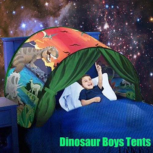 EdenShow Boys Dinosaur Dream Bed Tents Kids Pop up Tent Children Magic Castles Play Bed Tents Indoor Decoration