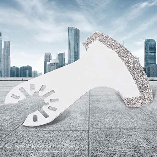 Hoja de corte de sierra, 4 hojas de sierra de diamante tipo hoz, hoja de corte de sierra de orificio universal, para Bosch, DREMEL, FEIN, WORX, para cortar y recortar azulejos