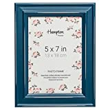 Générique Paloma Dstrssd Cadre en Bois Bleu Sarcelle 12,7 x 17,8 cm