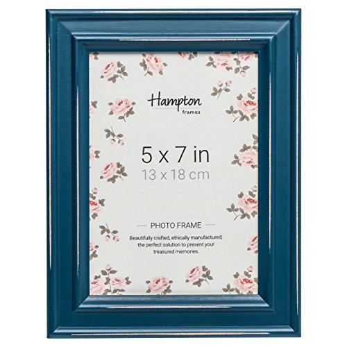 Hampton Frames PAL301957TL Fotorahmen, Shabby Chic, 13 x 18 cm, Blaugrün