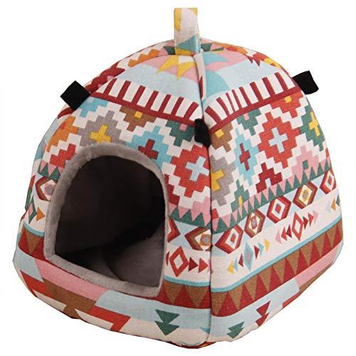 SunshineFace, casetta per criceti per animali domestici, letto invernale da appendere alla grotta
